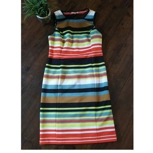 Gibson Latimer multicolor striped dress